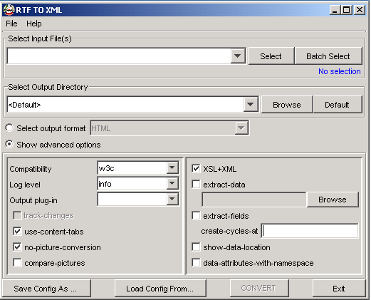 RTF TO XML Converter_screenshot